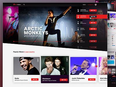 Live Nation Redesign live nation music mock redesign