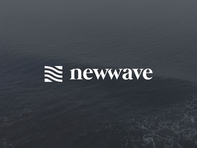 Newwave  wave surf branding clean redesign logo