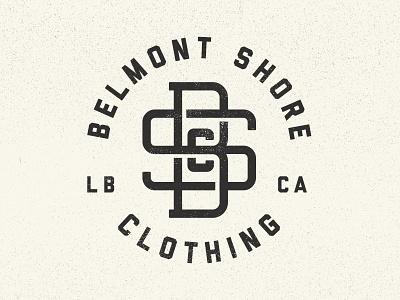 Monogram hipster classic vintage letters typography logo long beach monogram