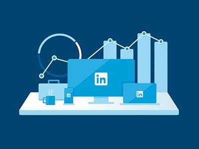 LinkedIn @Work illustration work linkedin