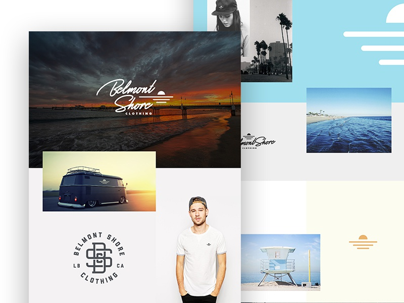 Lifestyle Branding identity branding logo belmont shore long beach socal california clothing ocean surf beach