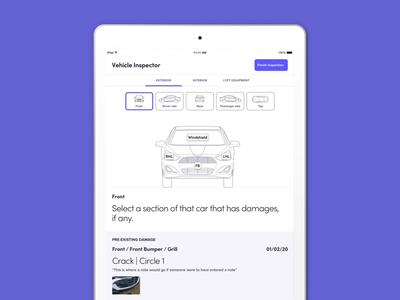 Vehicle Inspector car damage inspector vehicle ipad tablet mobile