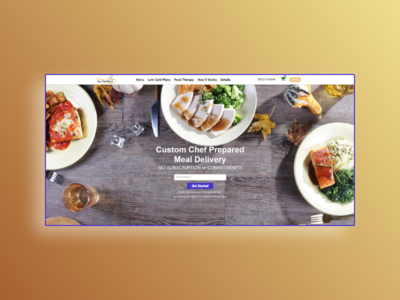 Website for  a food delivery