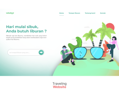 Landing page animation web ux ui vector branding illustrator illustration flat design art