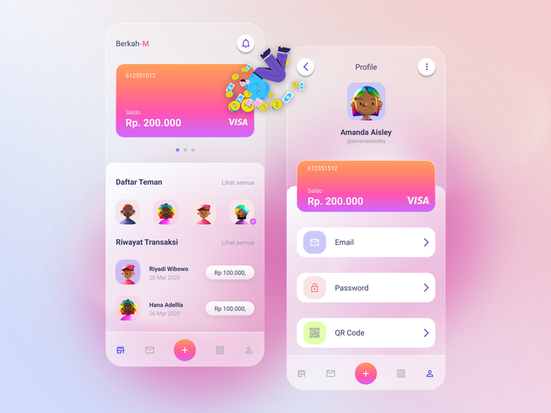 Banking App Mobile app bank arts design art ui designs ui kit figma ui ux design ui design ui  ux web ux illustrator flat vector ui branding design art illustration