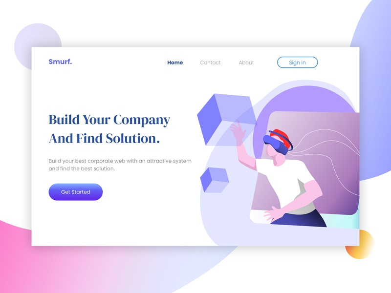 Landing Page - Company Design vector ui art branding illustration website concept illustrator sketch figma design mobile design app ui ux website design website