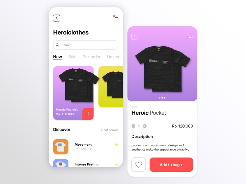 Shopping - App Design shopping app shopping jakarta desain logo shirt clothes ui design animation web ux flat ui illustrator branding vector design art illustration