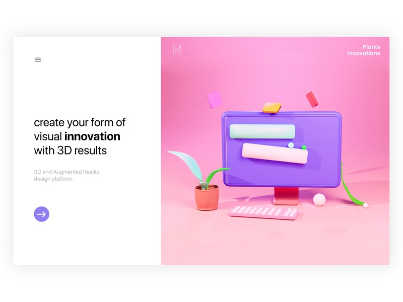 Visual Innovations - Landing Page website concept figma animation ui  ux design 3d blender 3d design ui design web design website web ux flat ui illustrator branding vector design art illustration