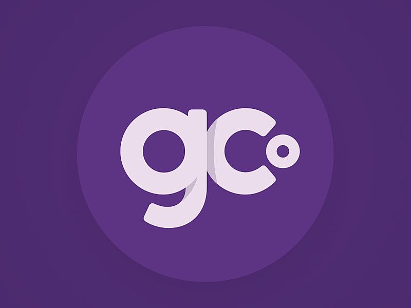 Geekery Collective Monogram shading clean soft corners typography lowercase round circle purple branding identity exploration monogram