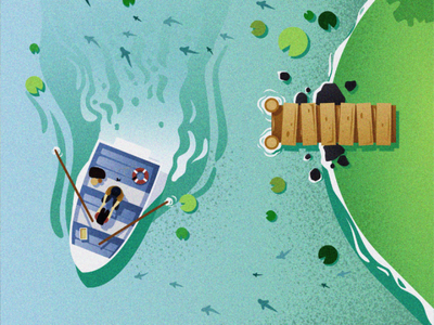 Fishing illustration graphic design