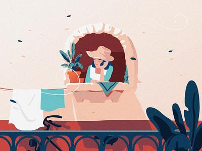 Because of Social Distancing design illustration