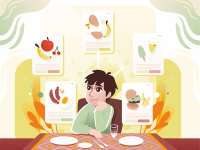 MAKANAN BERGIZI meal food and drink sahoor illustration ramadhan covid19 illustration graphic design chibiillustration chibi characterdesign character illustration design illustration design illustration