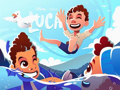 Luca (2021) pixar disney luca characterdesign character illustration design illustration design illustration