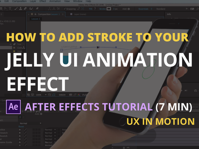 How to add stroke to your jelly ui animation in after effects ux tutorial motion after effects