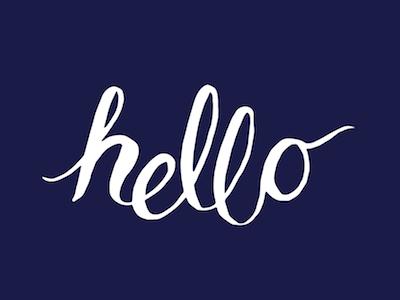 Hello design graphic design handlettered calligraphy illustration handlettering