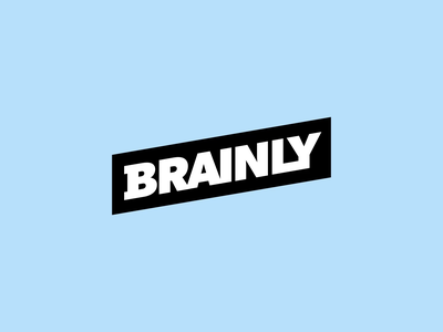 Brainly Logo Animation minimal flat logo animation brand brainly branding