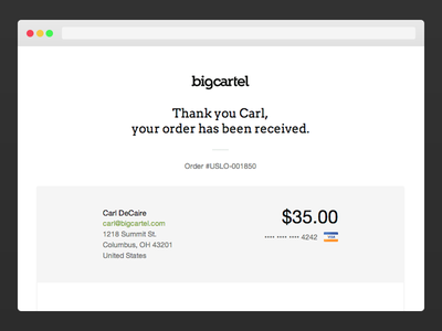 Big Cartel Seamless Checkout checkout big cartel web design stripe paypal