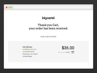 Big Cartel Seamless Checkout checkout big cartel web design stripe paypal
