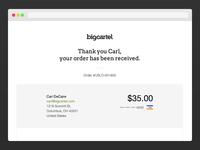 Big Cartel Seamless Checkout