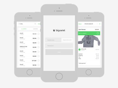 Big Cartel Mobile Admin admin orders big cartel design simple ui web design responsive