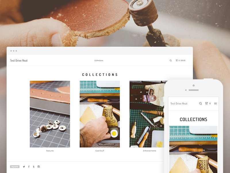 big cartel themes templates free - big cartel theme neat by carl decaire dribbble
