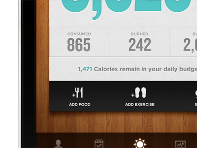 App Remix: Lose It! iphone app typography stats texture simple ui ios