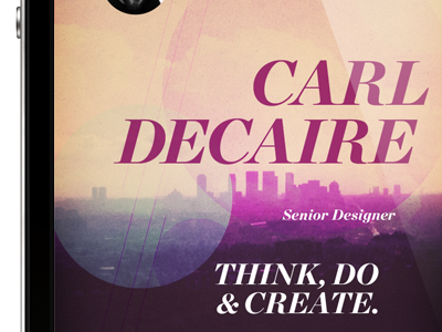 CardFlick Theme: Metropolis iphone app typography texture simple mobile ios