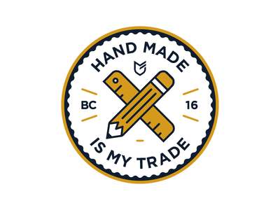 Hand Made Is My Trade big cartel stickers hat apparel emblem patch