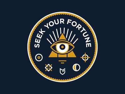 Seek Your Fortune big cartel stickers hat apparel emblem patch
