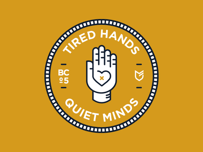 Tired Hands Quiet Minds big cartel stickers hat apparel emblem patch