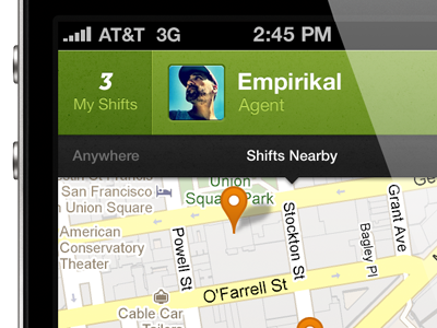 Easyshift  ios mobile simple texture typography app iphone