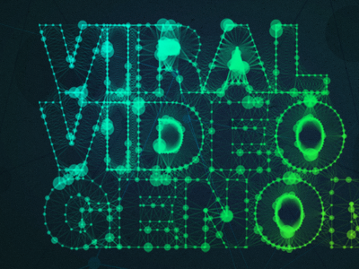 Viral Video Project typography type dark