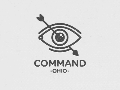 Command typography type dark icon eye arrow ohio logo insignia