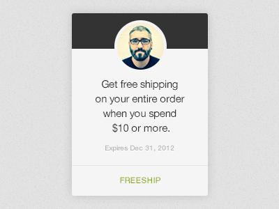 Discount Code ui typography web design big cartel