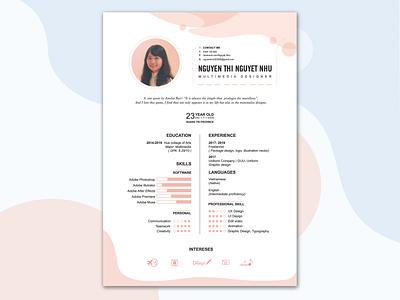 My resume clean theme clean design cv resume uidesign personal design