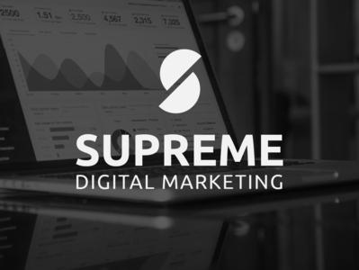 Supreme Digital Marketing   Concept Logo social media media marketing agency marketing gradient agency branding flat icon minimal logo design