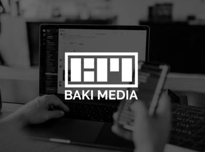 Baki Media   Logo Design minimal marketing agency marketing illustrator agency branding logo design