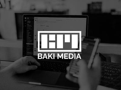 Baki Media | Logo Design minimal marketing agency marketing illustrator agency branding logo design