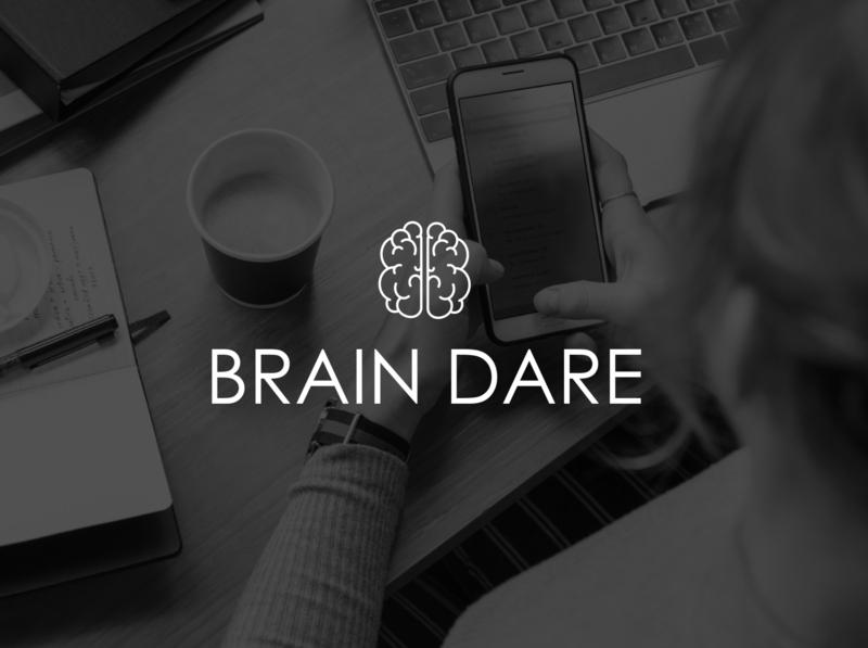 Brain Dare   Logo minimal icon flat logo illustration design