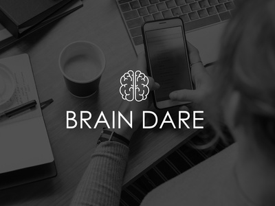 Brain Dare | Logo minimal icon flat logo illustration design