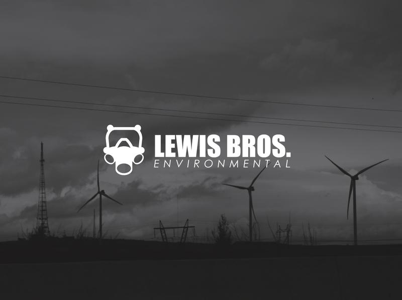 Lews Bros. Environmental   Logo minimal icon flat logo illustration design