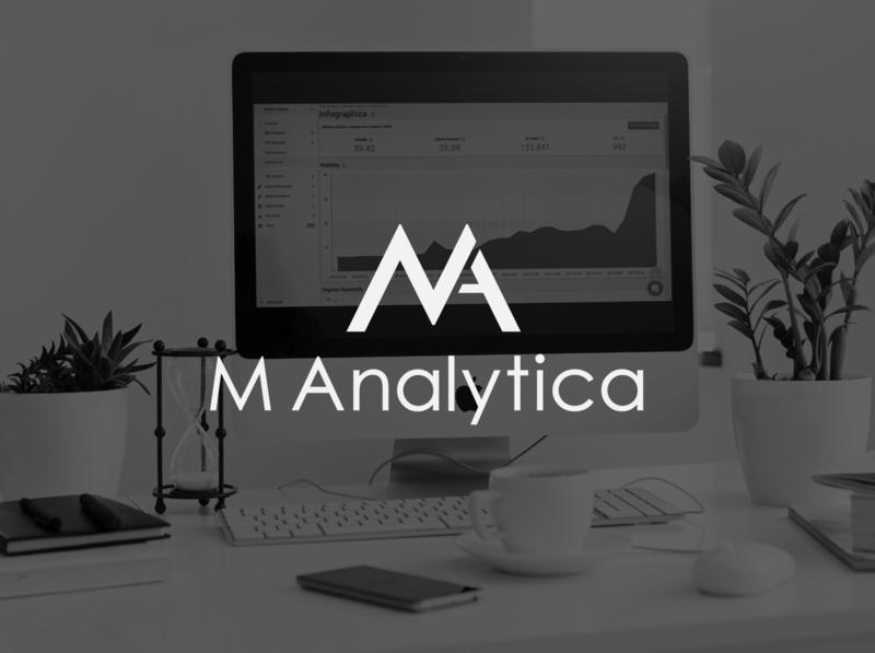 M Analytica   Logo minimal logo illustration design