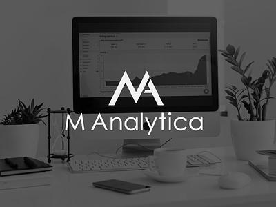 M Analytica | Logo minimal logo illustration design