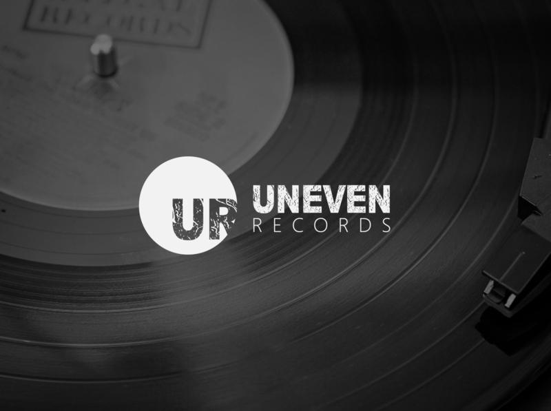 Uneven Records   Logo icon flat minimal logo illustration design