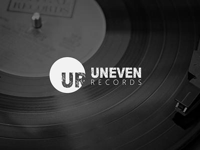 Uneven Records | Logo icon flat minimal logo illustration design