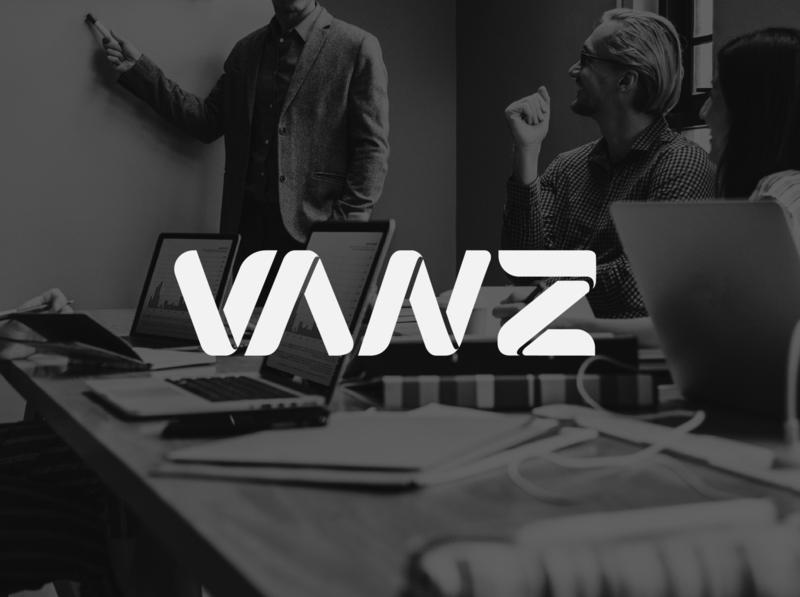 VANZ Digital   Logo typography minimal logo illustration design