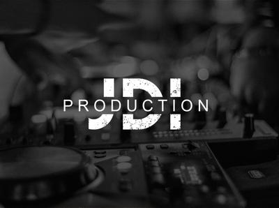 JDI Production   Logo typography minimal logo illustration design