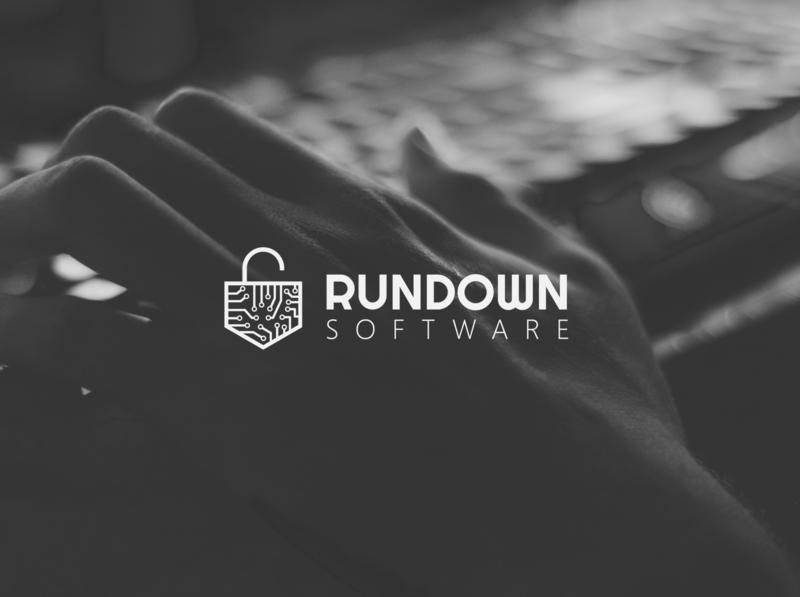 Rundown Software   Logo illustrator branding icon flat minimal logo illustration design