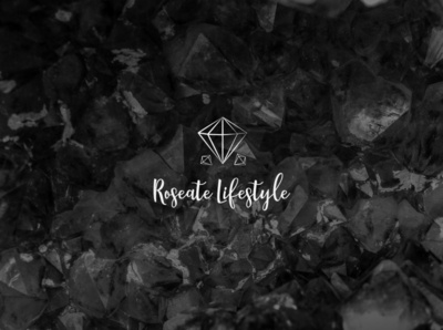 Roseate Lifestyle   Logo lettering vector illustrator branding typography icon logo illustration design