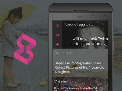 Gazzet Social Feeds for BB10 app gazzet social feeds reader flipboard blackberry bb10 twitter feedly reddit